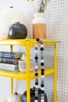 Modern Black and White Halloween Decor