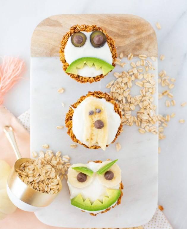 Spooky Pumpkin Spice Yogurt Granola Cups for Halloween thumbnail