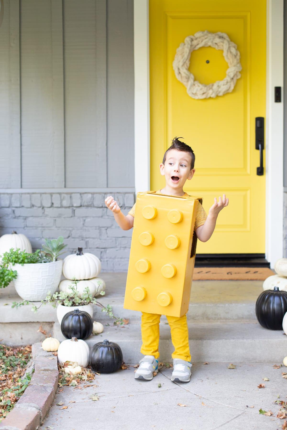How to make a Lego Halloween costume