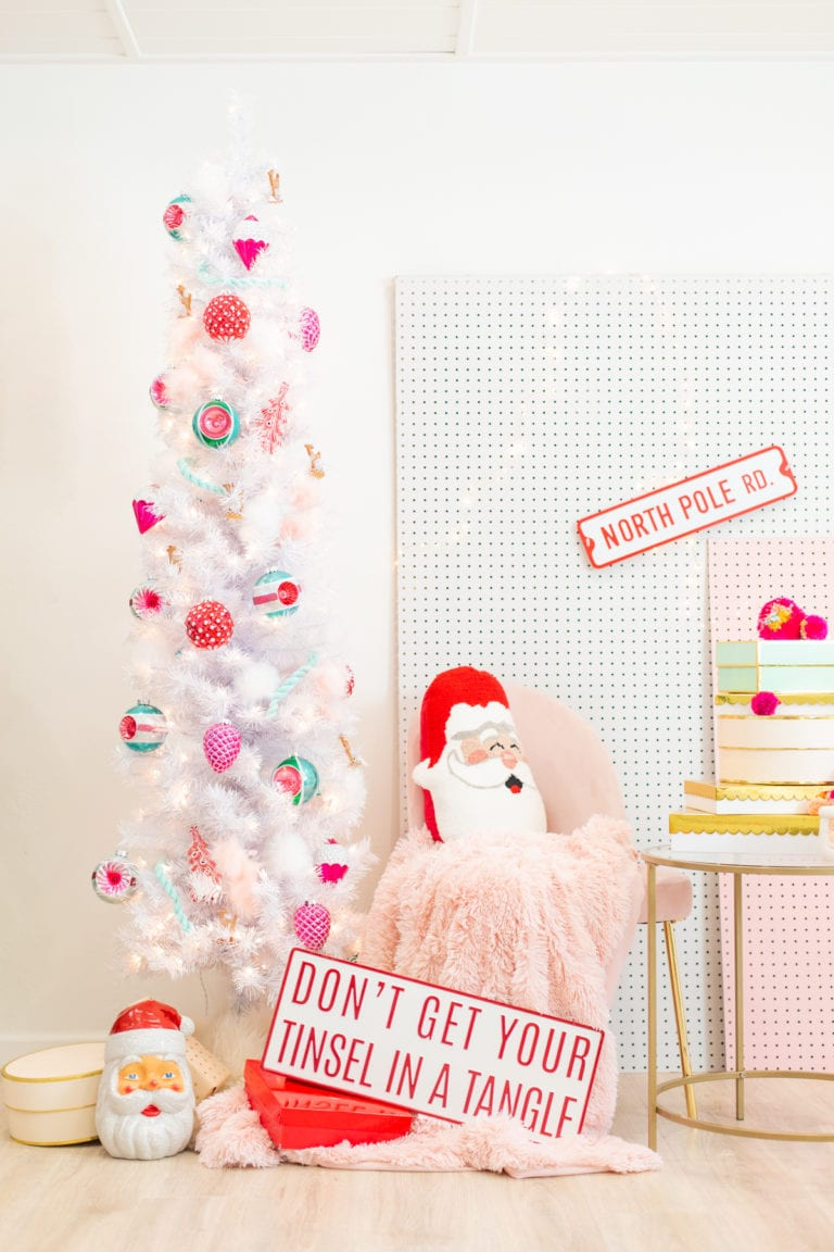 Hey Holidays // A Pink, Red, and Green Christmas Tree