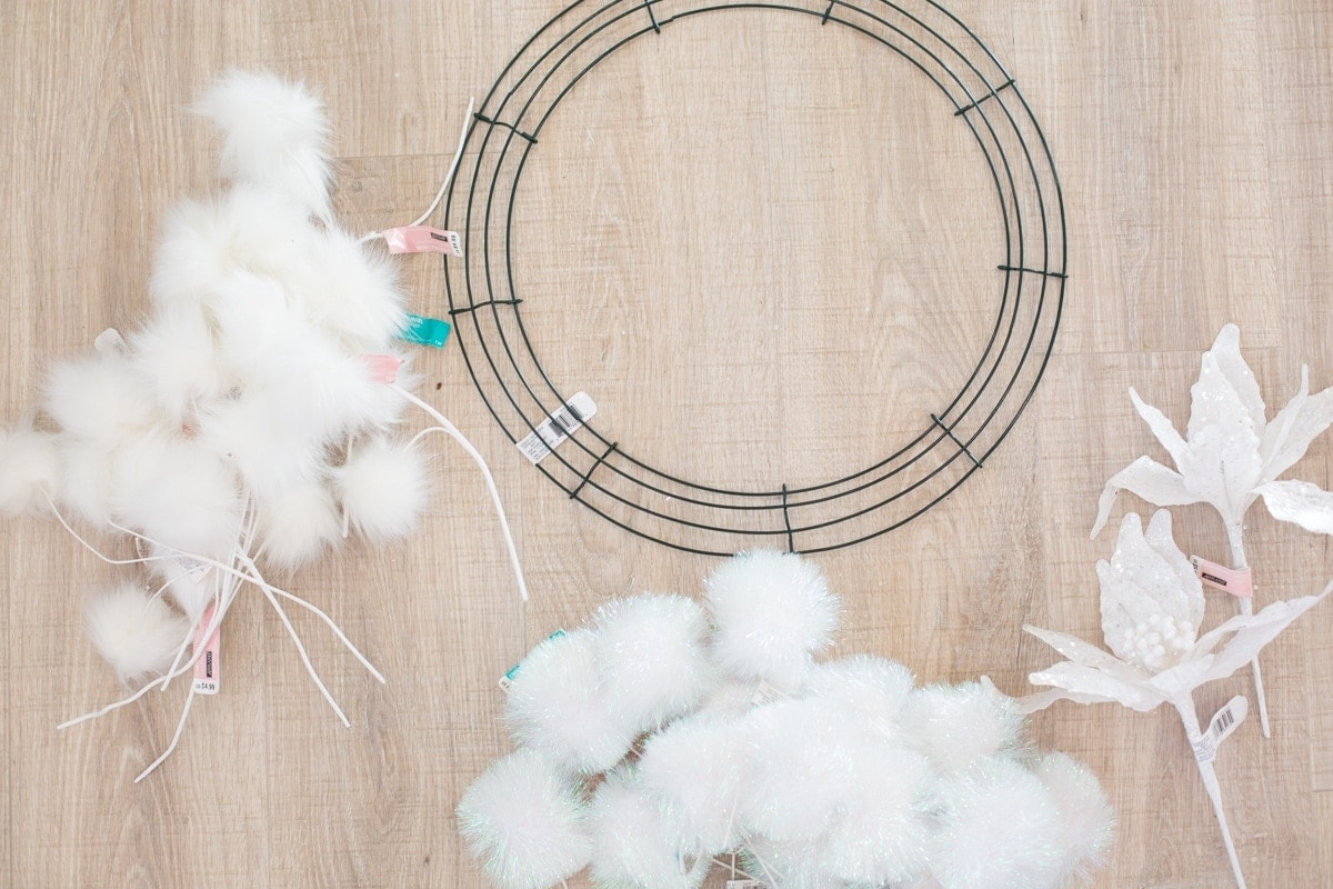 A Fluffy, Fun Winter Wreath DIY
