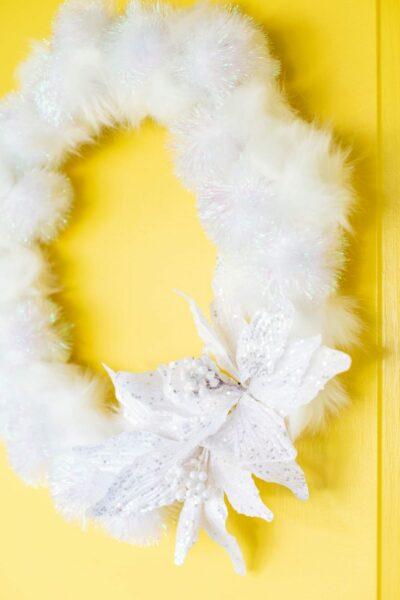 A Fluffy, Fun Winter Wreath DIY