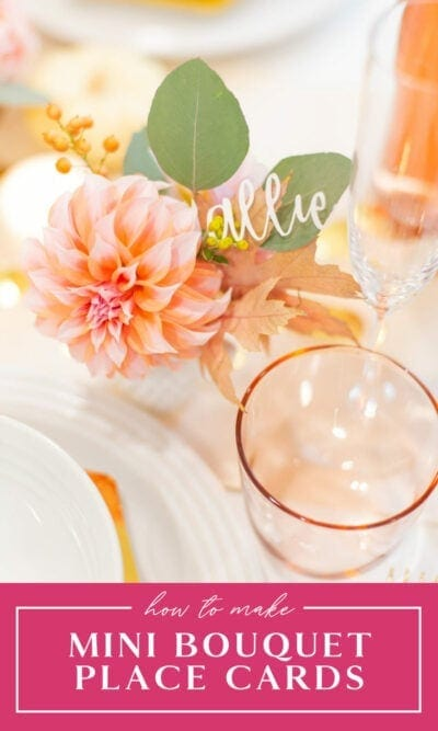 Mini Bouquet Place Cards
