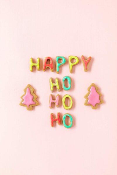 Mini Gingerbread Alphabet Cookies