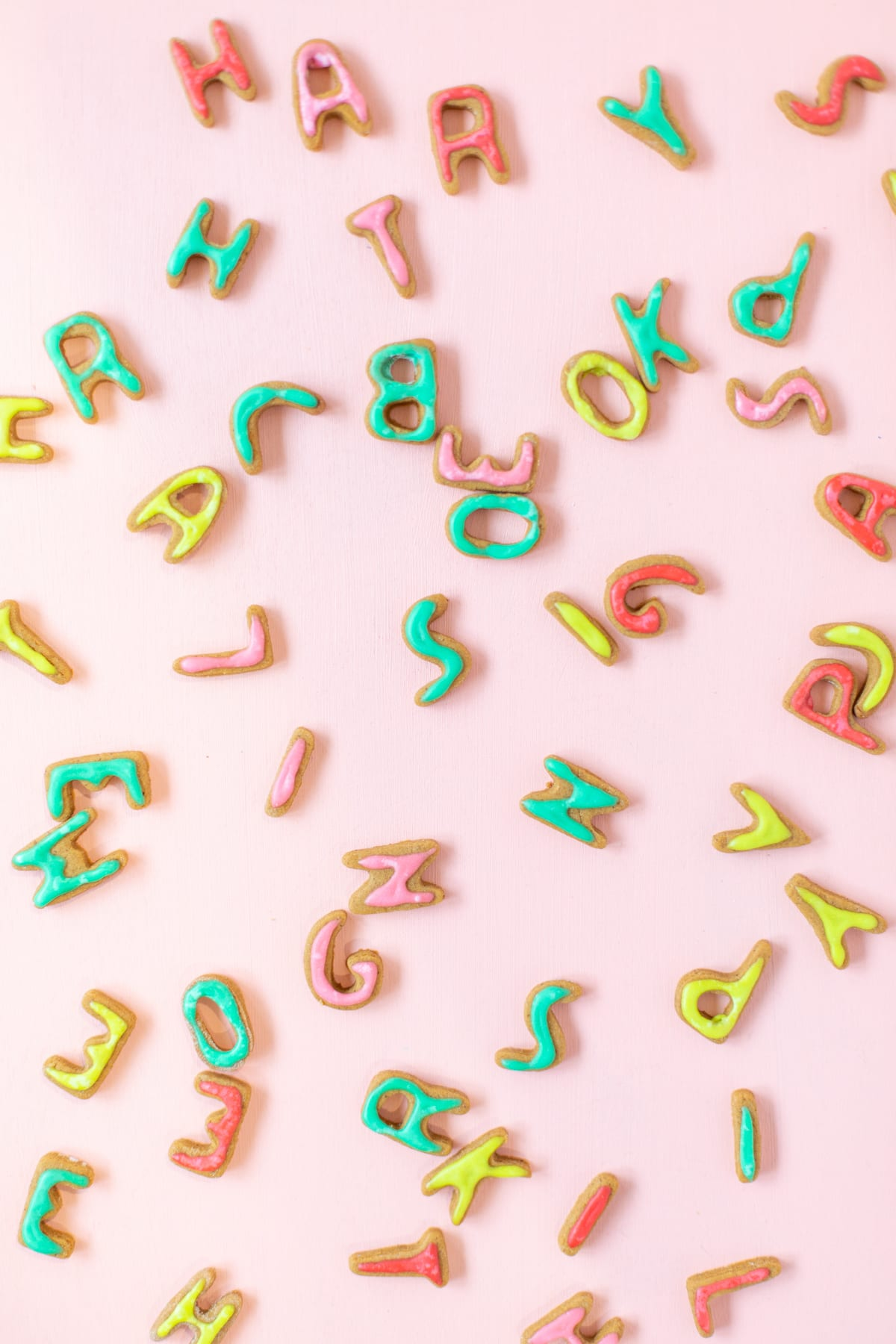 Mini Gingerbread Alphabet Cookies