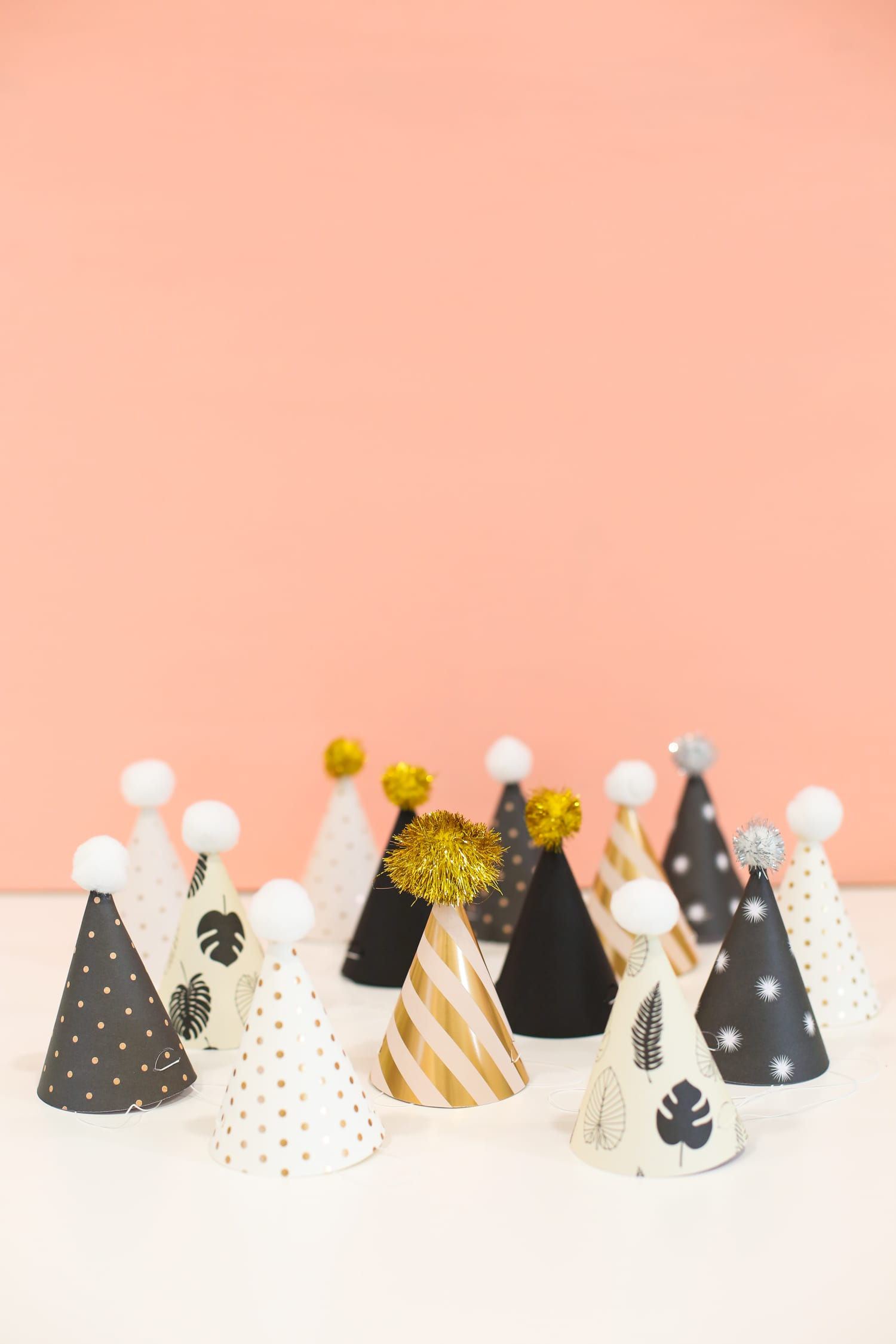 Printable New Year's Eve Party Hats for kids and adults