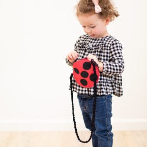 Stocking Stuffer Idea // How to Make a Kids' Ladybug Purse thumbnail