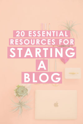 20 Essential Resources for Starting a Blog
