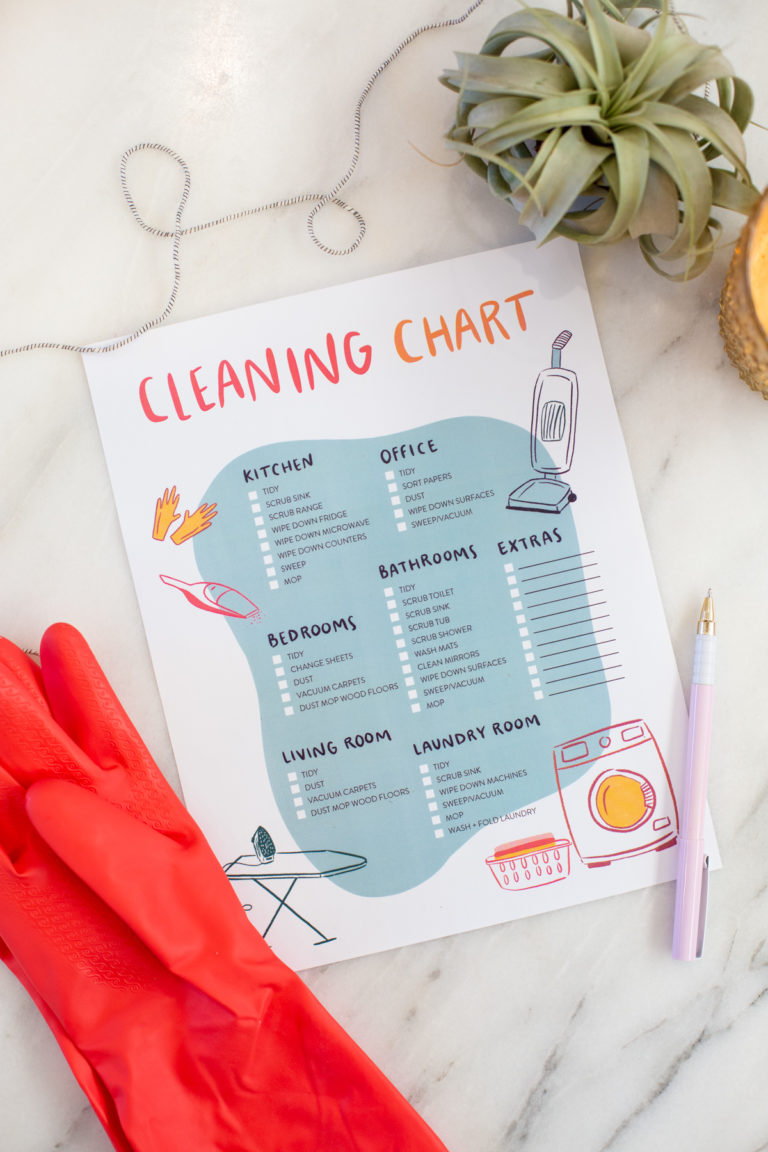 Our House Cleaning Schedule and Printable Checklist