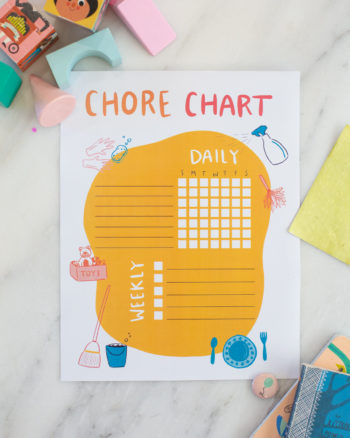 Chore Chart Printable for Kids