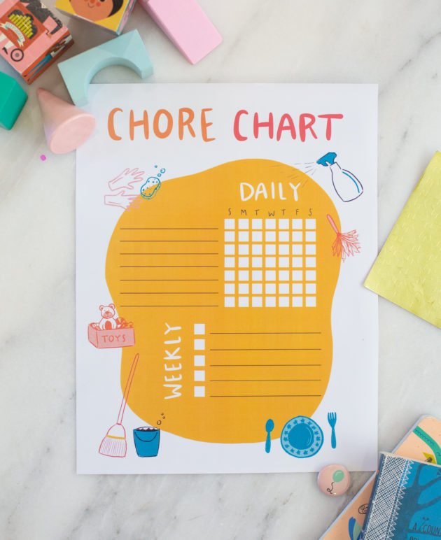 Chore Chart Printable For Kids thumbnail