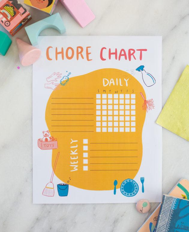 Chore Chart Printable For Kids thumbnail