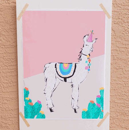 Pin the tail on the llama