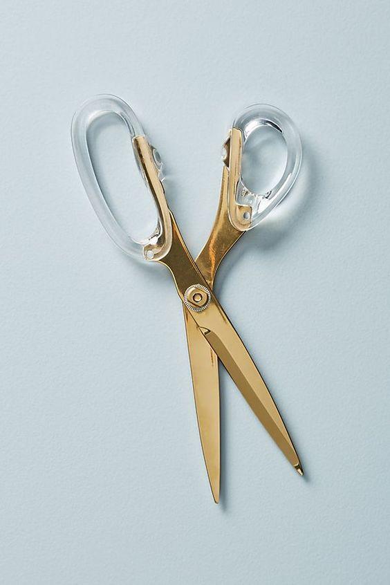 Golden Acrylic Scissors