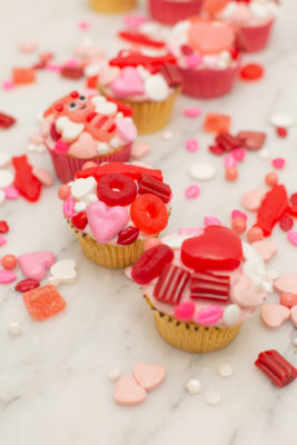 Make Candy Cupcakes for a Valentine's Day Party