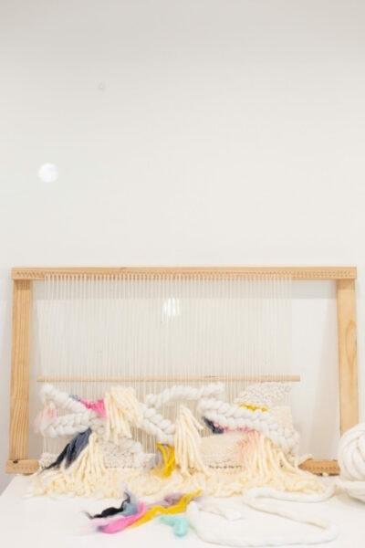 DIY Fiber Art Woven Wall Hanging