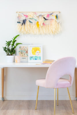 DIY Fiber Art Woven Wall Hanging