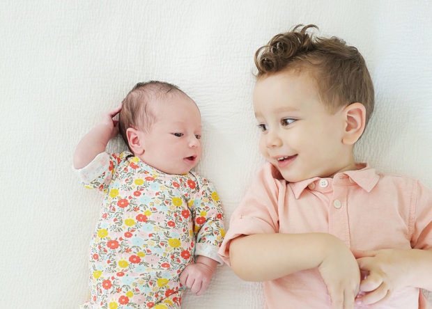 Infant sister and toddler brother