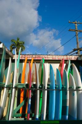 Surfboards in Kauai