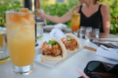 Bao and cocktail from Ama in Kauai