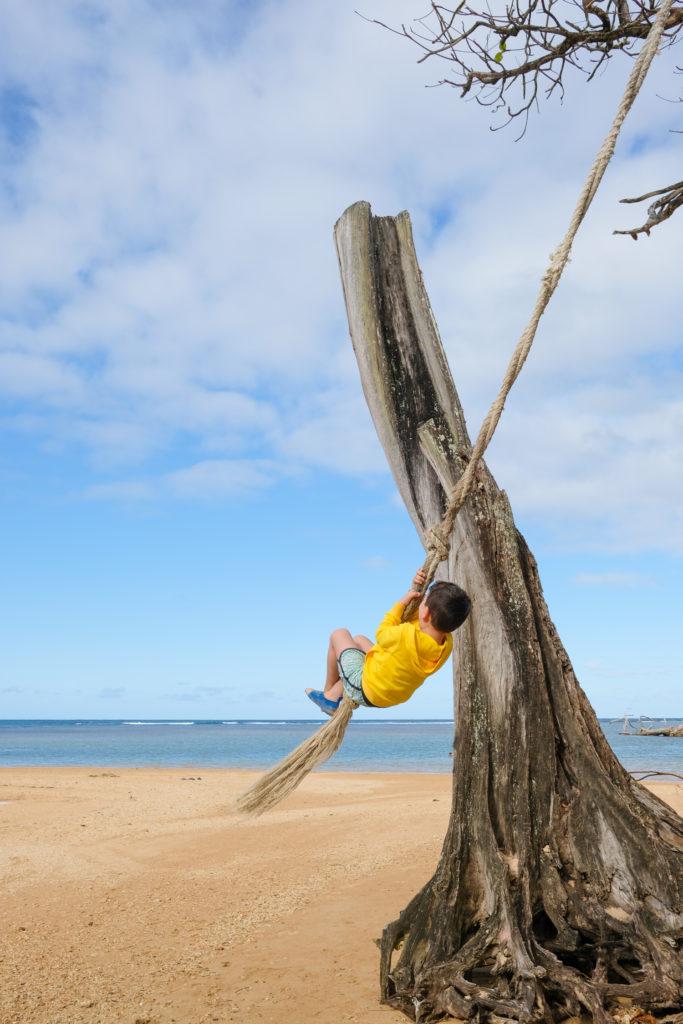 Rope swing in Kauai