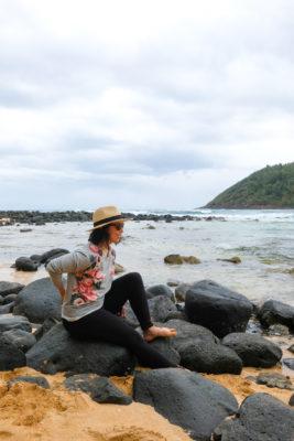 Woman on Kauai beach