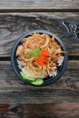 Poke bowl from food truck on Kauai