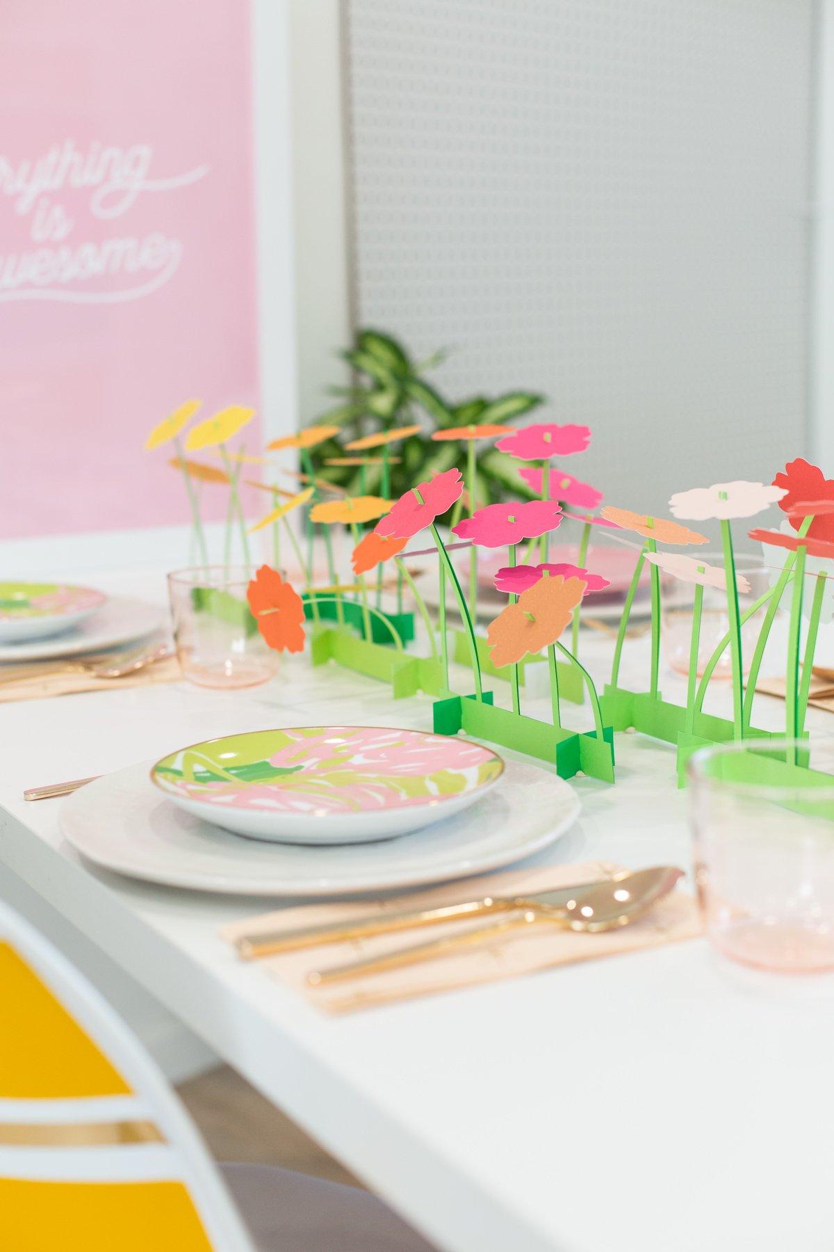 Make A Paper Flower Spring Centerpiece