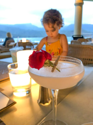 Cocktail at Princeville Resort in Kauai