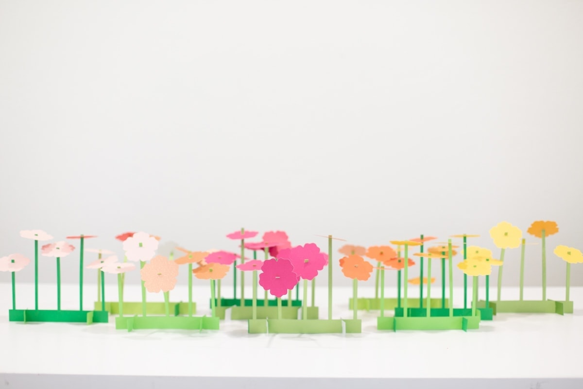 Paper flower Cricut project