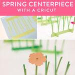 paper flower centerpiece made by a cricut machine