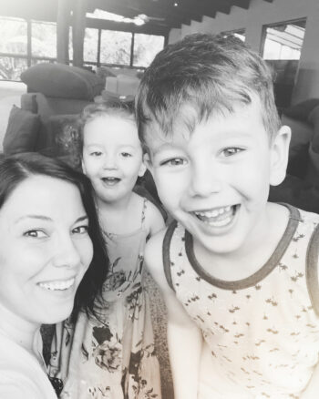 Mom with two children