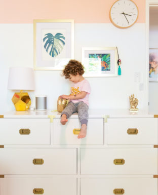 Painting Color-Blocked Walls in Maggie's Room (With AAFA Certified Paint!)
