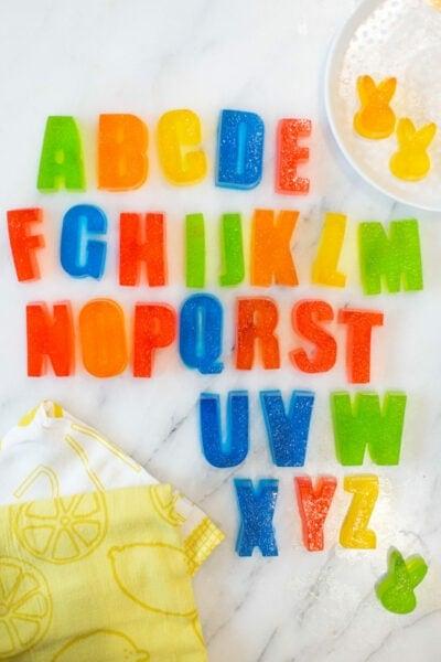 Alphabet Jello Treats
