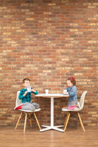 Kids at a coffee shop