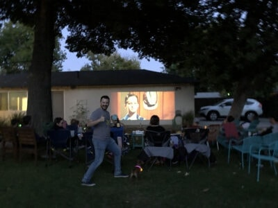 best outdoor projector for movie night