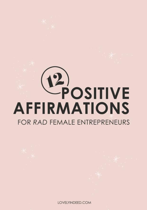 Positive affirmations for female entrepreneurs