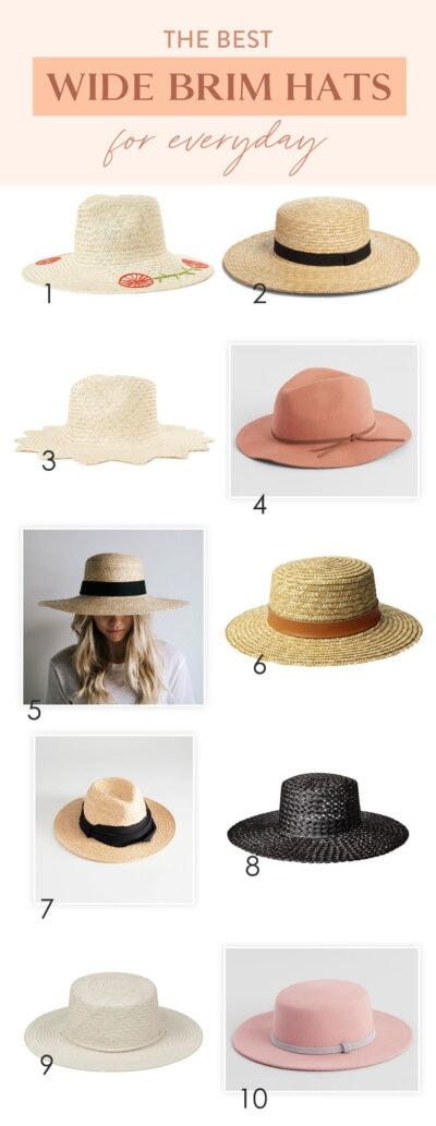 best wide brim hats