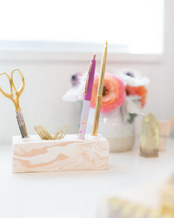How to make a modern desk organizer