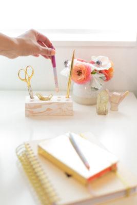 How to make a modern desk organizer
