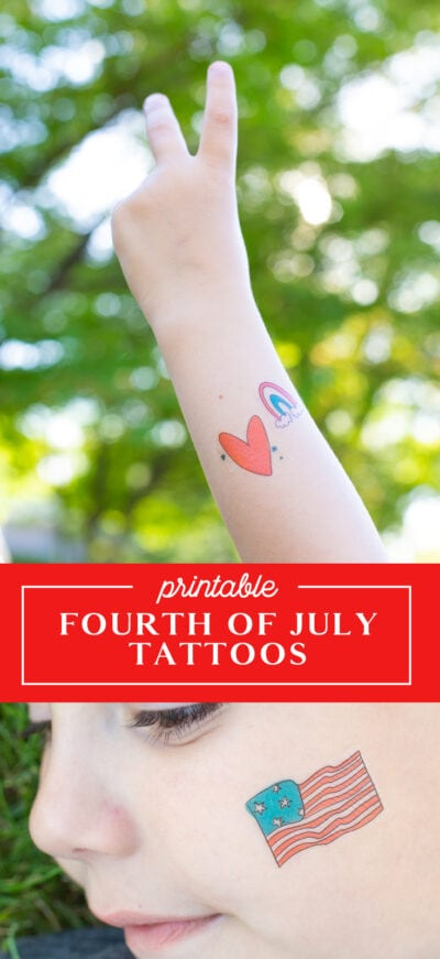 printable july 4th tattoos