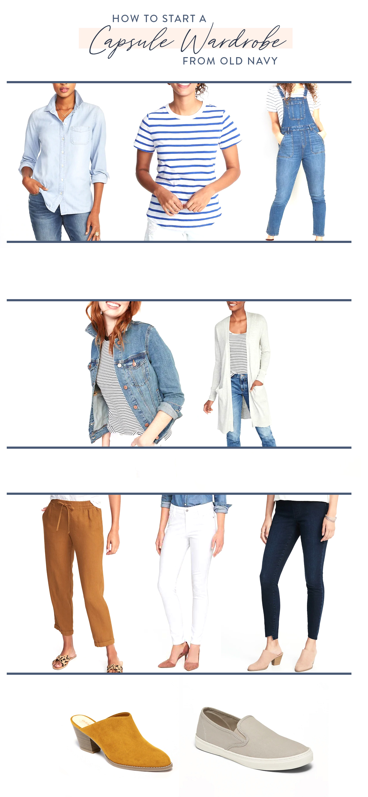 Capsule wardrobe from Old Navy