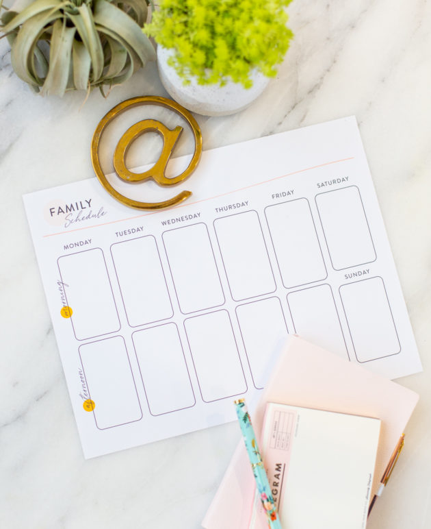 How to Use a Family Schedule to Be More Present (and Productive!) at Home thumbnail
