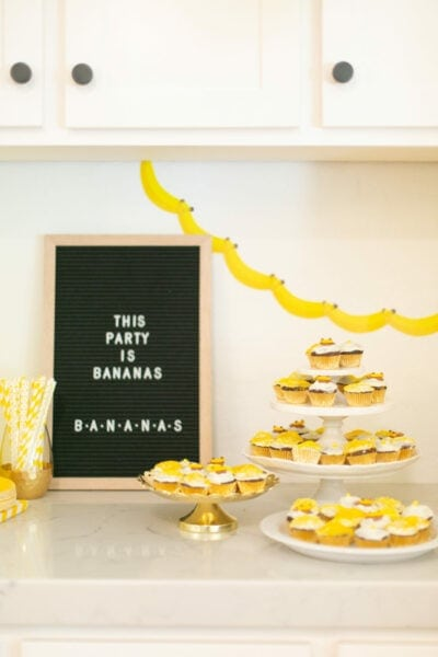 How to Throw A Banana Birthday Party