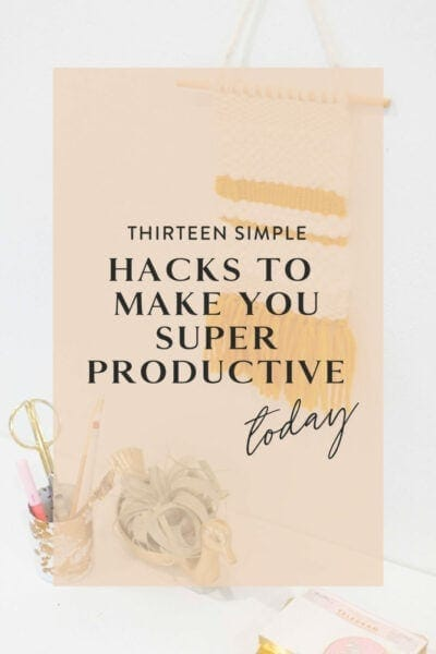 Productivity tricks to try