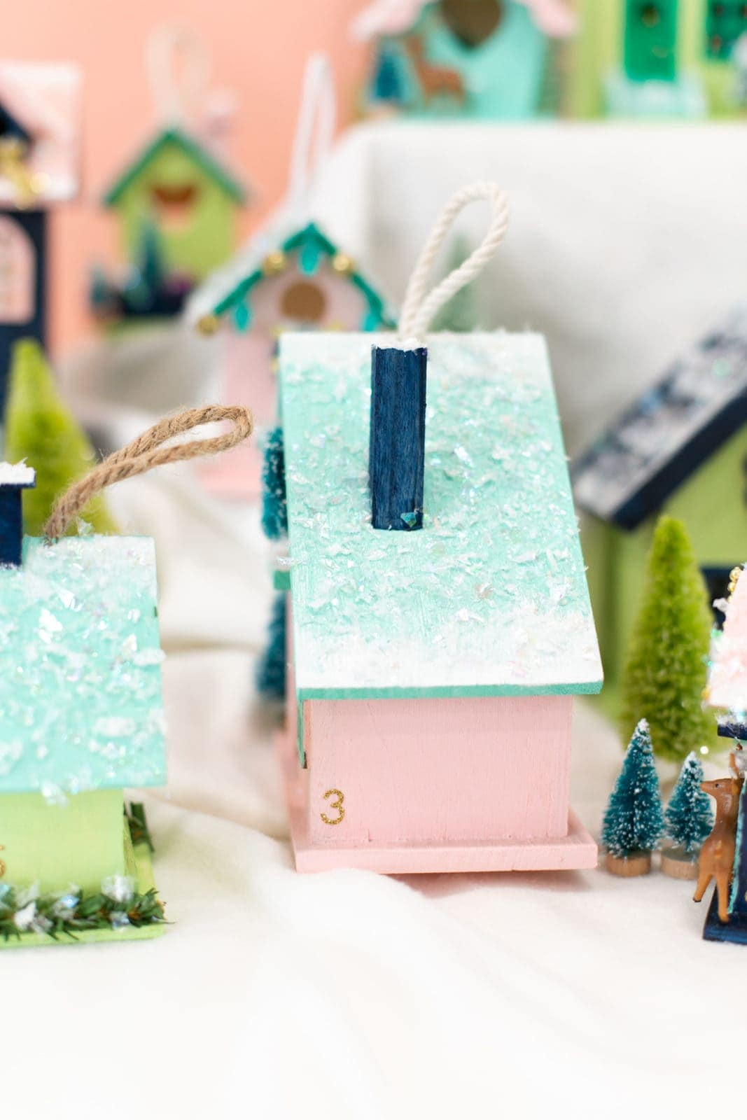 How to make a Christmas Village Advent Calendar