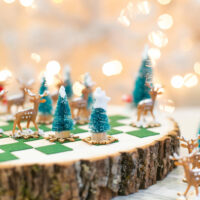 How to make a DIY winter checkers game