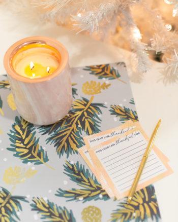 Printable gratitude cards for Thanksgiving