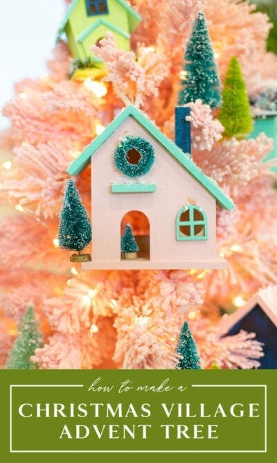 Christmas Village Advent Tree
