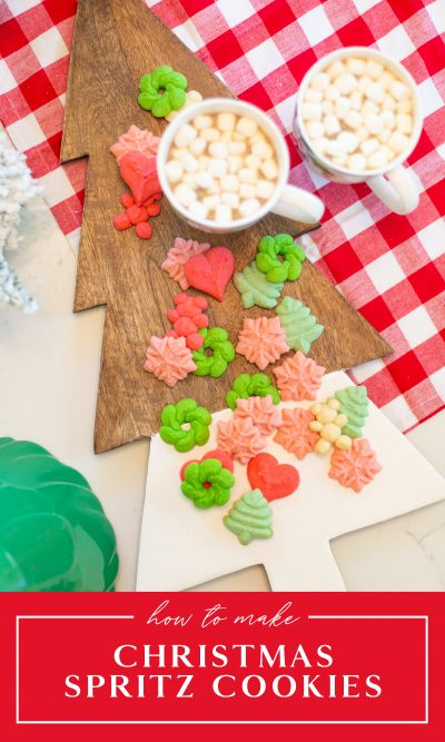 Spritz cookie recipe for Christmas